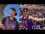 Jeremy Lin Finally Celebrates In A NBA Championship Parade While Carmelo - Chris Paul Punch The Air-