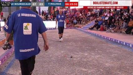Pétanque - Odyssée des Champions 2019 à Montpellier : Demi-Finale Tyson MOLINAS vs Bruno LE BOURSICAUD