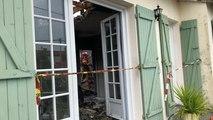 Incendie dans une maison au Mazeau