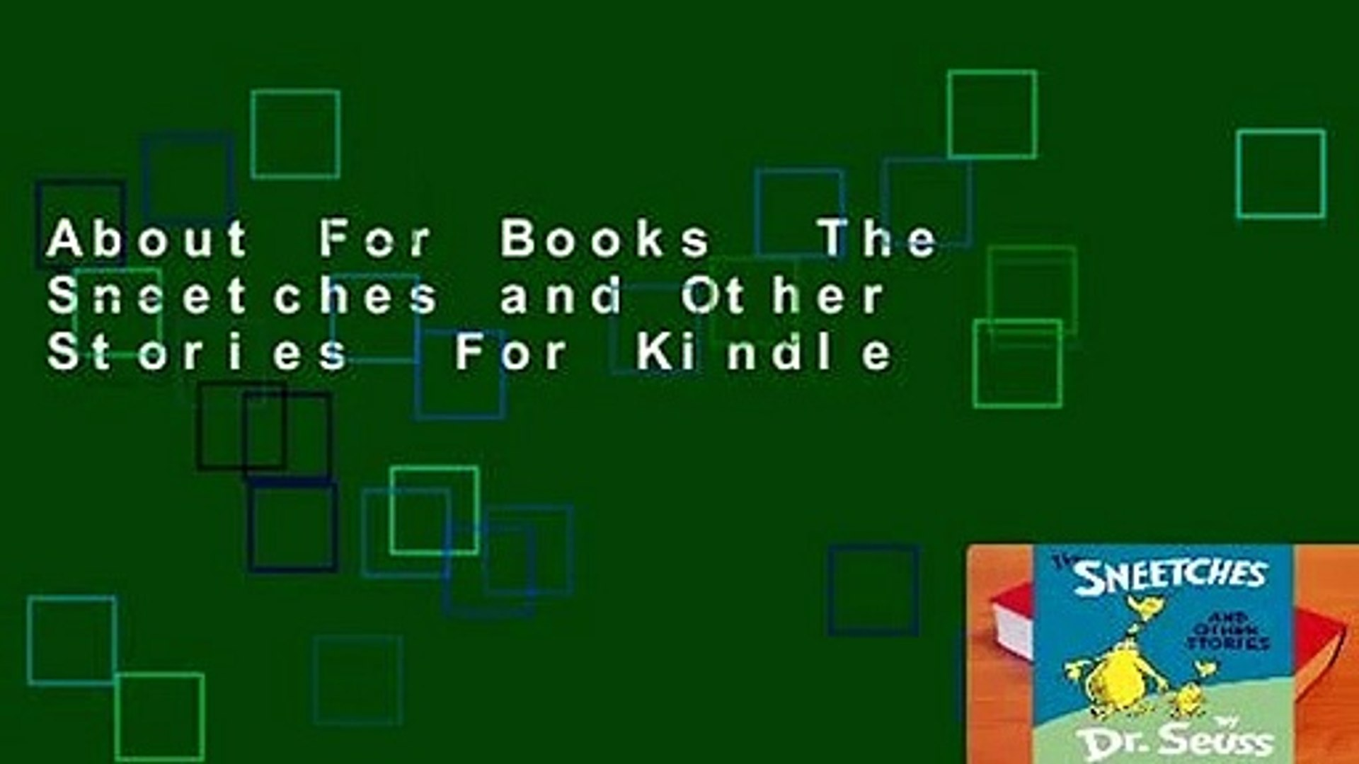 About For Books  The Sneetches and Other Stories  For Kindle