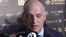 """Tebas sobre el gol de Suárez: """"Podría haber falta pero no es jugada de VAR para haber cambiado la decisión del árbitro"""""""