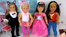 Doll Dress up For Kids - Play Toys AG Halloween Costumes Unicorn, Mermaid Princess - Titi Dolls