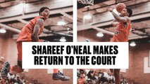Shareef O'Neal is BACK- Teams Up With Shaqir O'Neal at Drew League - Full Highlights