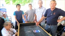 Bollène : Jean-Marc Barreau, président de l'Outil en main, présente un prototype de table de jardinage pour les Ehpad