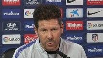 """Simeone: """"Nosotros le damos importancia a todo lo que sea poner en juego la camiseta del Atlético"""""""