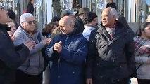 Protesta de los afectados por la venta de viviendas del Instituto de la Vivienda de Madrid (IVIMA) a un fondo buitre
