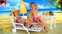 Barbie - Ken Beach Vacation Morning Routine - Barbie Doll Snorkeling Under Water Play for Kids