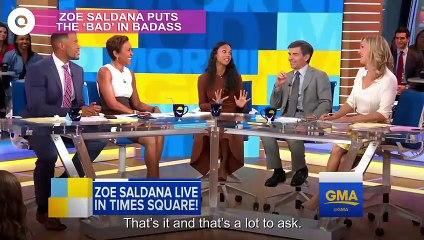 Zoe Saldana is a Total Badass