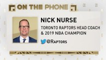 The Jim Rome Show: Nick Nurse talks Kawhi Leonard