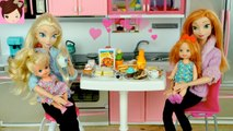 Mother's Day Special with Frozen Elsa - Anna Babies Cooking Surprise Breakfast - Titi Toys - Dolls