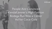 People Are Convinced Kendall Jenner's High-Fashion Bodega Run Was a Clever Ad for Coca-Cola