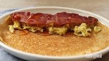 How to Make Egg & Bacon Pancake Breakfast Wraps