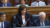 Enfrentamiento entre Montserrat y Calvo por la política migratoria