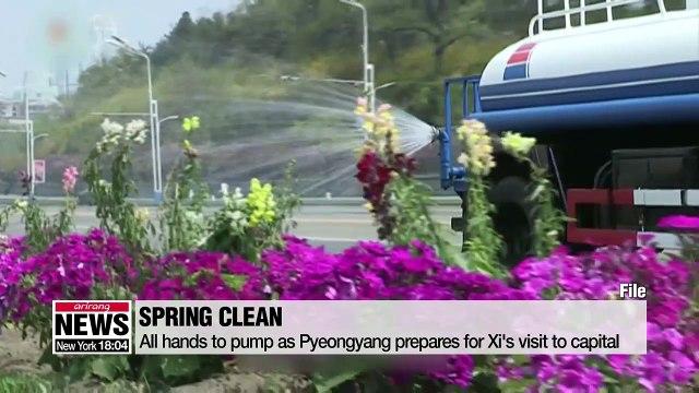Pyeongyang prepares for Xi's arrival