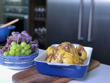 Pollo asado con uvas y jengibre