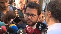 Aragonès exige que no haya presos para negociar