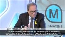 """Torra: """"Mi único límite es el Parlament de Cataluña"""""""