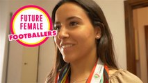 Footballeuse: la portugaise Filipa a les yeux rivés sur la Coupe du monde