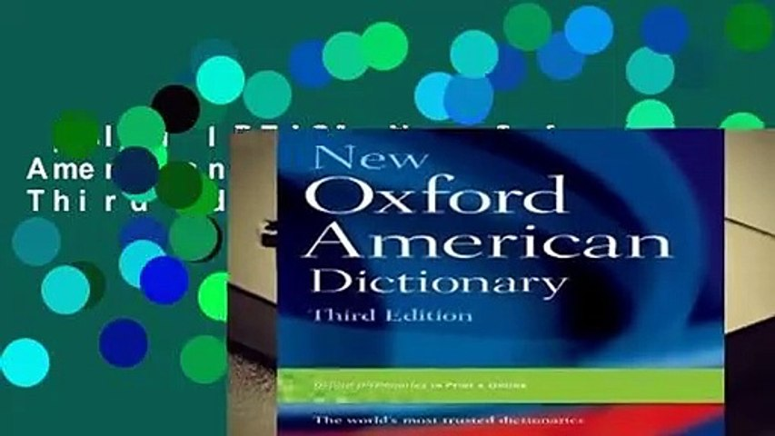 GIFT IDEAS] New Oxford American Dictionary, Third Edition - video