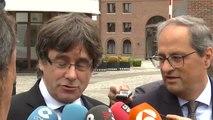 """Puigdemont denuncia una """"burbuja de infoxicación"""" para enfrentar a los catalanes"""