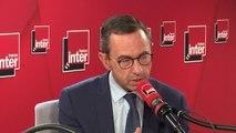 """Bruno Retailleau (président du groupe LR au Sénat) : """"Je reste parce que je pense qu'il y a un espace pour la droite et je suis un marin, je ne saute pas du bateau quand ça va mal"""""""