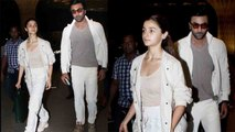 Alia Bhatt & Ranbir Kapoor leave for New York to visit Rishi Kapoor; Watch Video | FilmiBeat