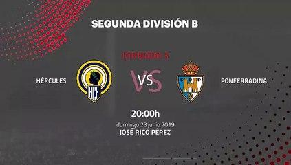 Previa partido entre Hércules y Ponferradina Jornada 3 Segunda B - Play Offs Ascenso