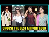 Choose the best Airport look:  Janhavi Kapoor, Deepika Padukone, Mouni Roy or Varun Dhawan