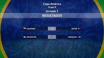 Resumen de la Jornada 2 Copa América Grupo B