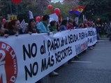 Miles de personas en Madrid secundan una nueva Marcha por la Dignidad