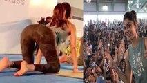 Shilpa Shetty looks beautiful in Yoga Class at Surat | Boldsky