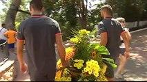 El Villarreal FC realiza la ofrenda a los patronos de la ciudad