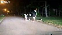Appelé pour le bruit, ce policier joue au basket avec les jeunes à 4 heures du matin !