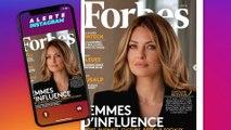 Caroline  Receveur, la première femme en couverture de Forbes France