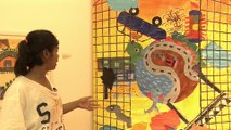 India art exhibition showcase painting by vulnerable children