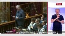 questions au gouvernement: Pierre Laurent interroge Christophe  Castaner sur le référendum d'ADP