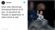 Elton John et Emmanuel Macron veulent mobiliser contre le sida à l'occasion de la Fête de la musique