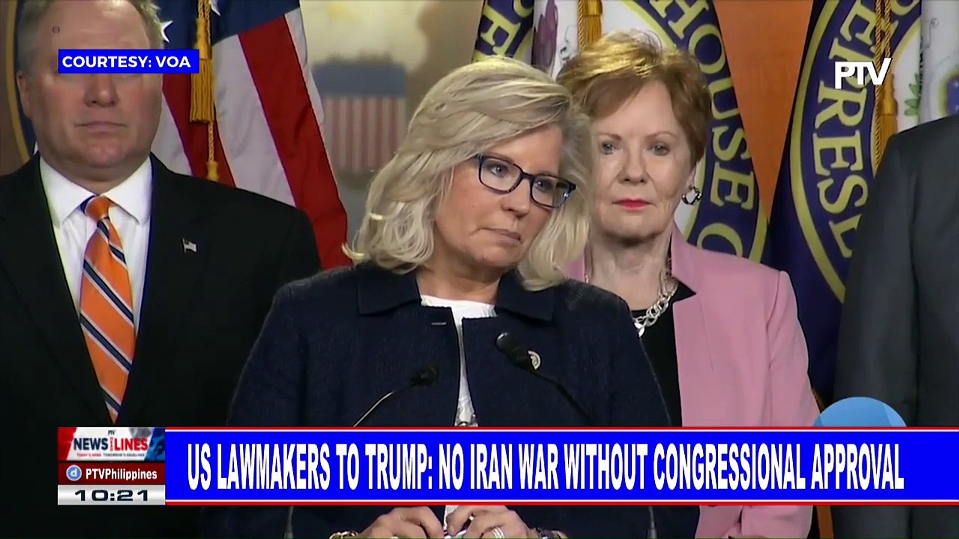 GLOBAL NEWS   US lawmakers to Trump: No Iran war without Congressional approval