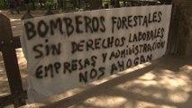 Bomberos forestales explican los motivos de la huelga