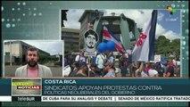 Costa Rica: sindicatos apoyan protestas contra políticas neoliberales