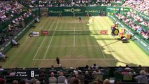 Alexander Zverev beats Steve Johnson for place in last eight at Halle Open