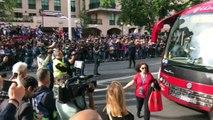 Deportivo - Mallorca  Llegada del Mallorca a Riazor
