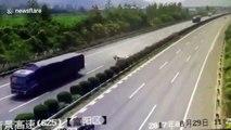 Une fillette éjectée d'une voiture sur l'autoroute s'en sort indemne... Miraculée