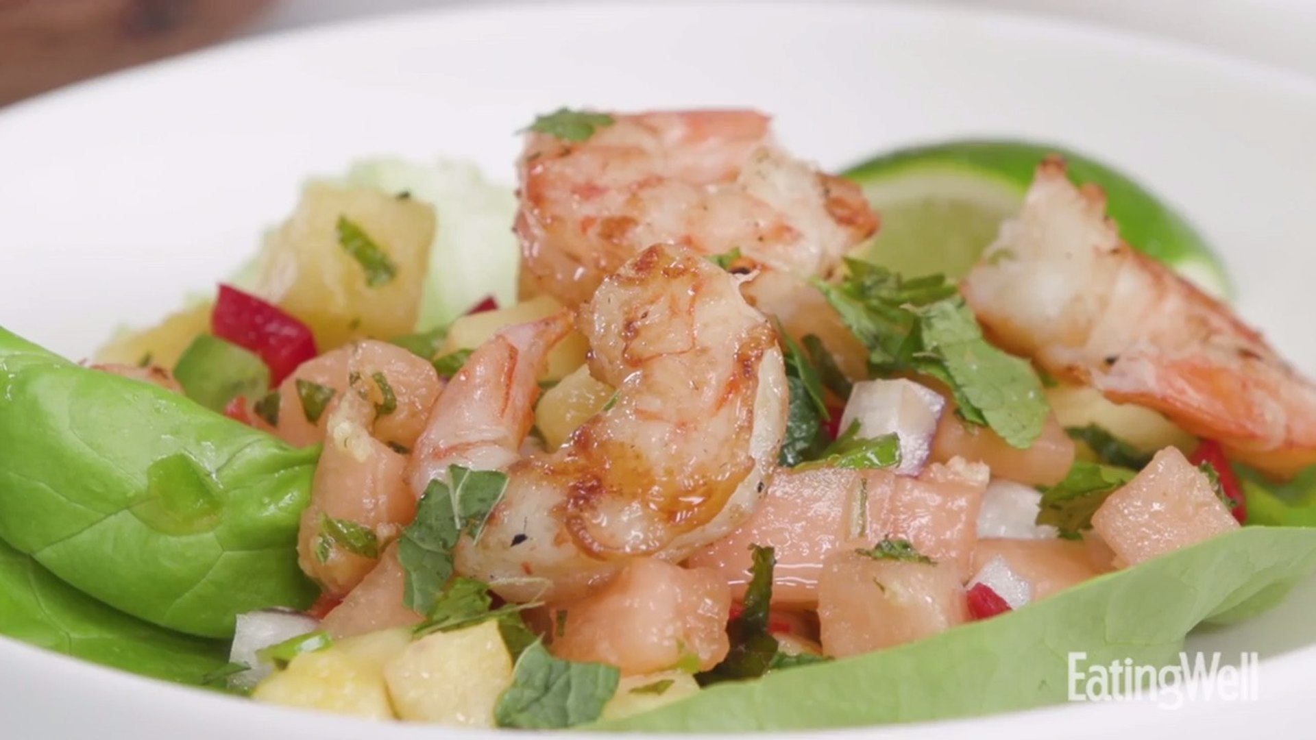 How to Make Grilled Shrimp With Pineapple-Melon Salsa
