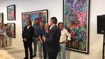 vernissage de l'exposition hervé di rosa au palais des congrès du Cap d'Agde
