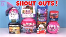 Roblox Squishee PJ Masks Paw PAtrol LOL Surprise Kinder EGG Doc McStuffins TOYS UNBOXING Fun