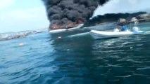 Dados de alta la mayoría de los heridos por el incendio en un catamarán