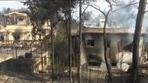 Grecia amanece arrasada por el fuego