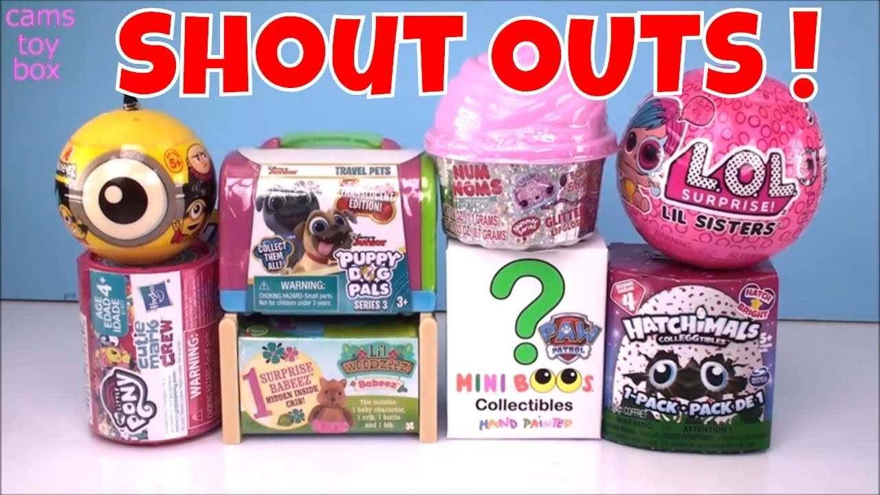-toy Unboxing Surprises TOYS Puppy DOG PALS 3 Minions NUM NOMS LOL Surprise Paw Patrol MLP