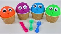 4 Color Play Doh Ice Cream Cups Pj Masks Paw Patrol Masha and Bear Learn Colors